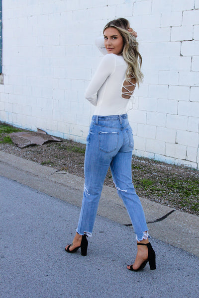 Girlfriend Distressed Denim