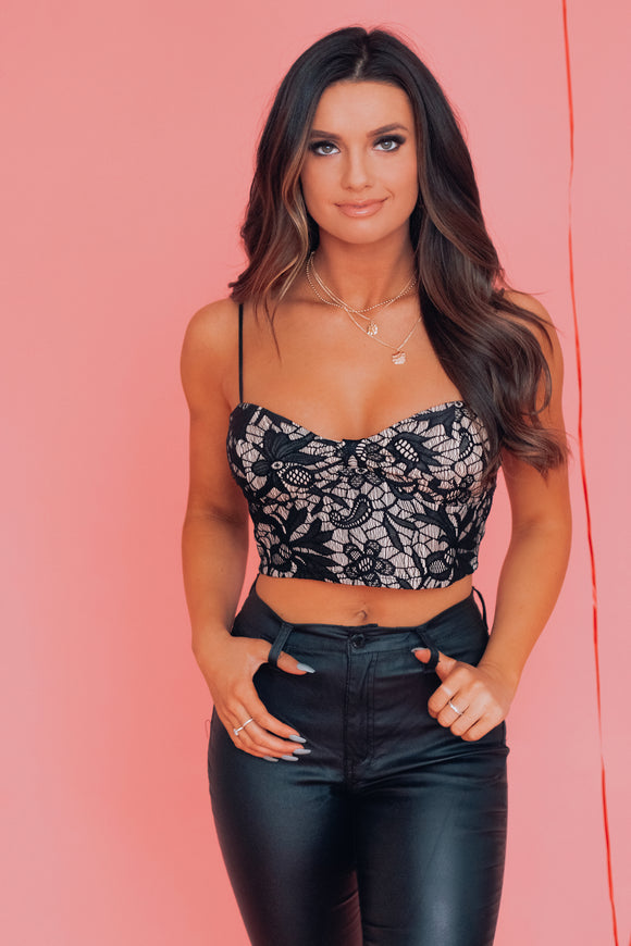 Gracie Lace Crop Top
