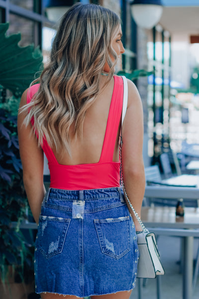 Side Eye Denim Skirt