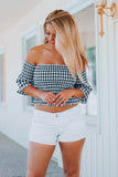 Check Me Out Gingham Top