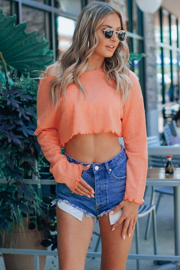 Favorite OTS Long Sleeve Knit Top