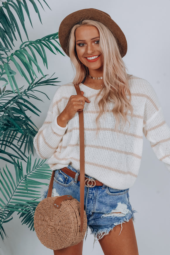 Holding On Stripe Sweater