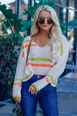 Wild Child Neon Knit Sweater