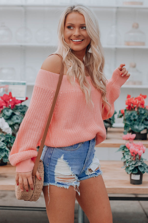 Georgia Peach OTS Sweater