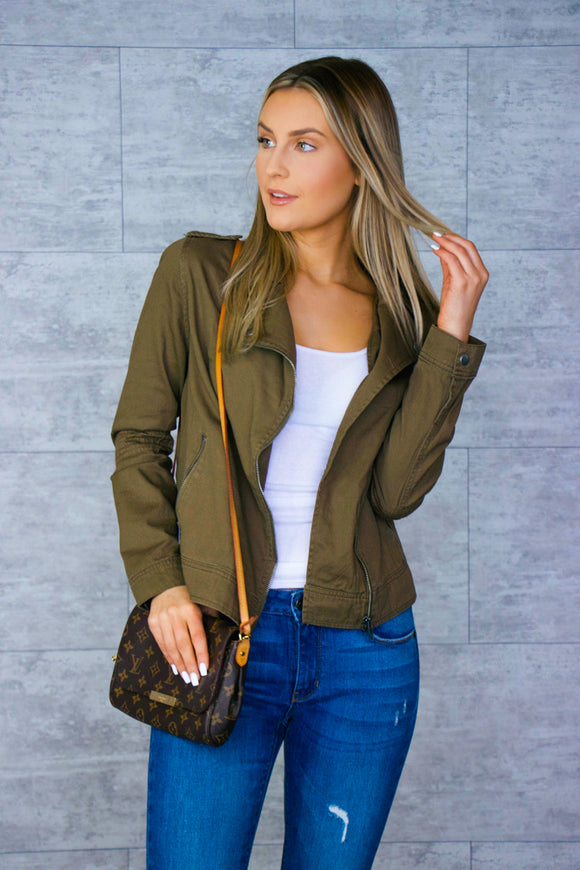 Zip Up Military Jacket