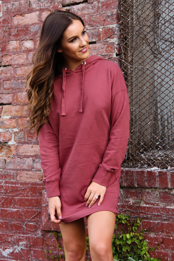 Brick Sweatshirt Dress