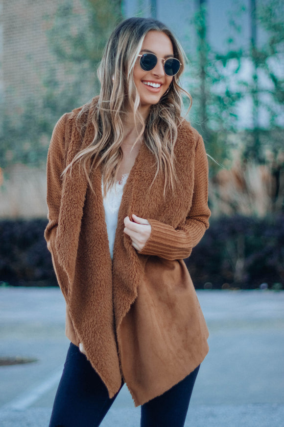 Camel With Love Cardigan