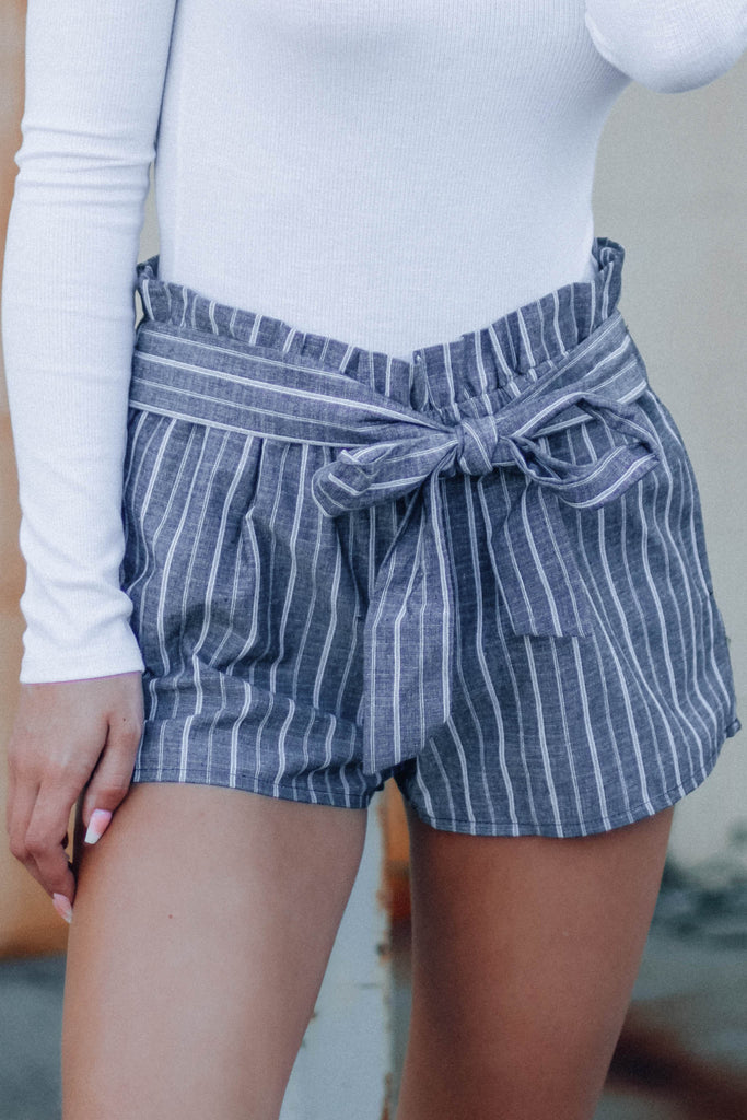 Striped Shoreline Tie Shorts