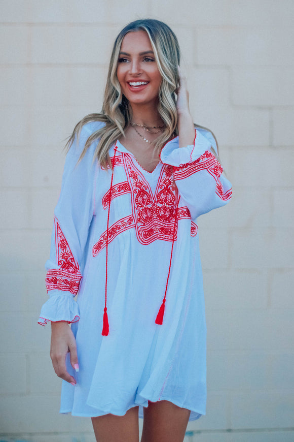 Lennon Embroidered Dress