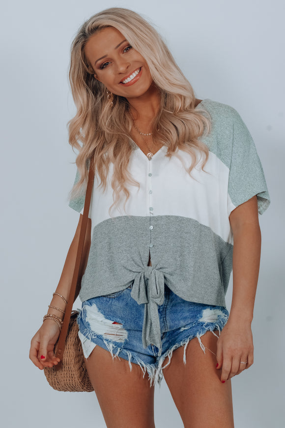 Simon Button Down Knot Top