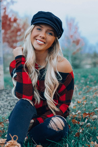 Cozy Up Plaid Top