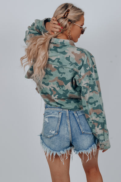 Toy Story Crop Camo Jacket