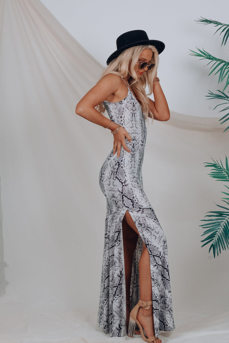 Slither My Way Maxi Dress