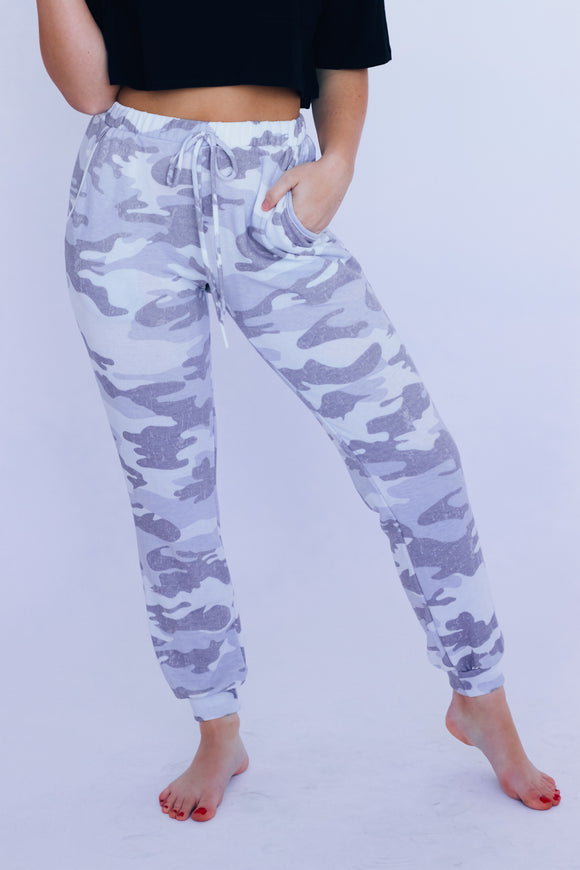 RESTOCKED: Camo Lounge Around Joggers