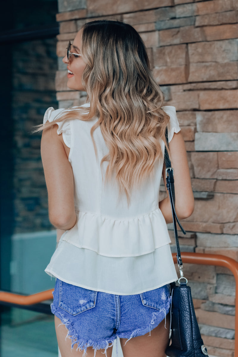 Kimberly Button Down Top