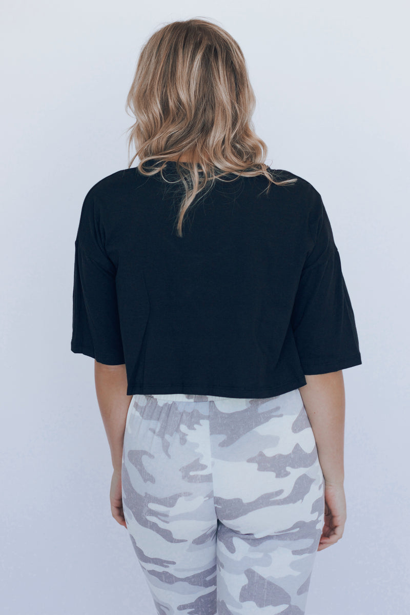 RESTOCKED: Cropped Pocket Tee