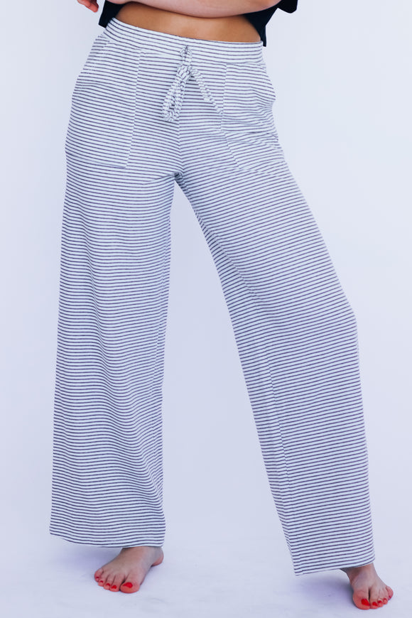 Lounge Around Stripe Wide Leg Pants