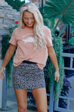 Animal Print Knit Skirt