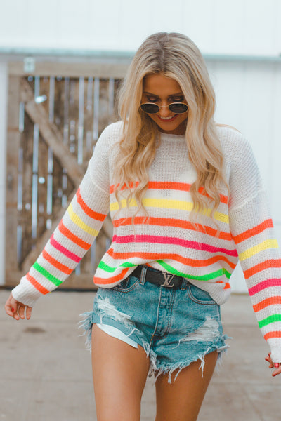 Tutti Frutti Stripe Sweater