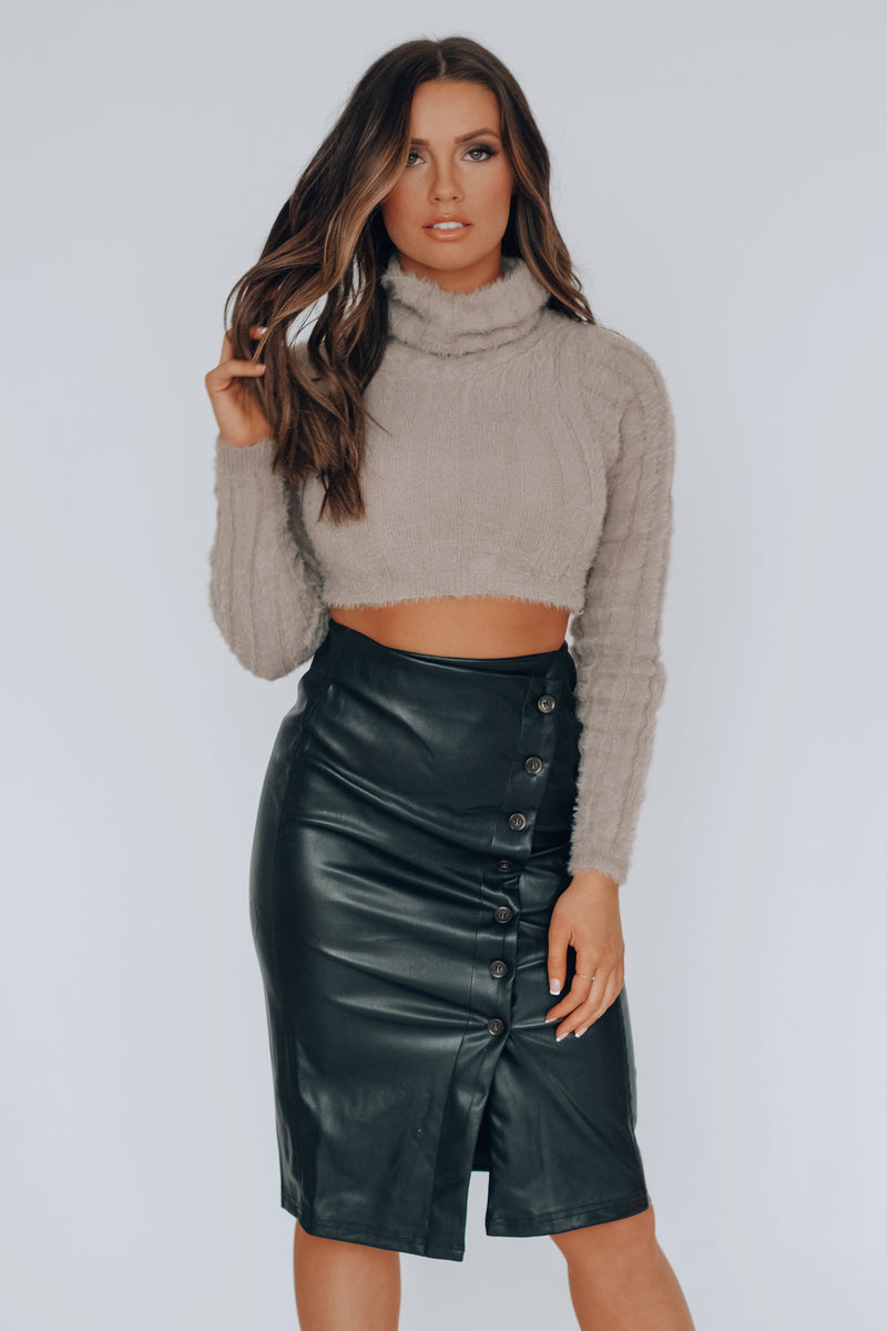 Janica Textured Crop Sweater