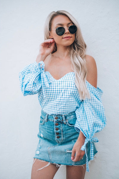 Liv Gingham Top