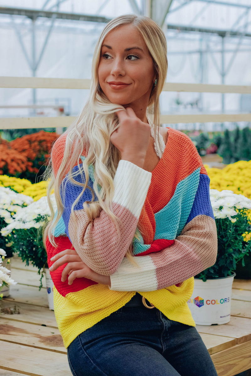 Mia Rainbow Knot Sweater