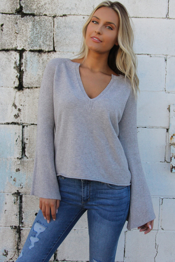 Heather Bell Sleeve Sweater
