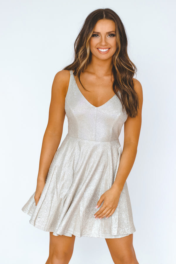 RESTOCKED: Champagne Dreams Dress