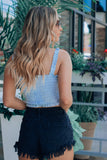 Sky Blue Scrunch Top