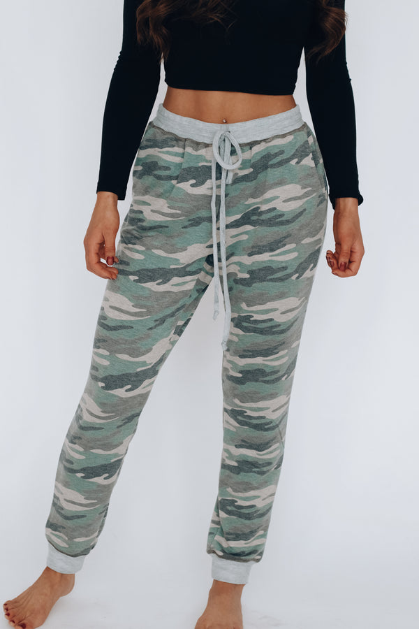 RESTOCKED:Lounge Around Camo Joggers
