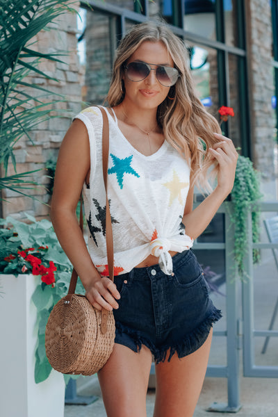 Multi Color Star Knit Tank