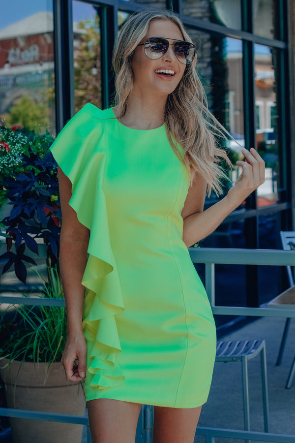 Electric Ruffle Dress