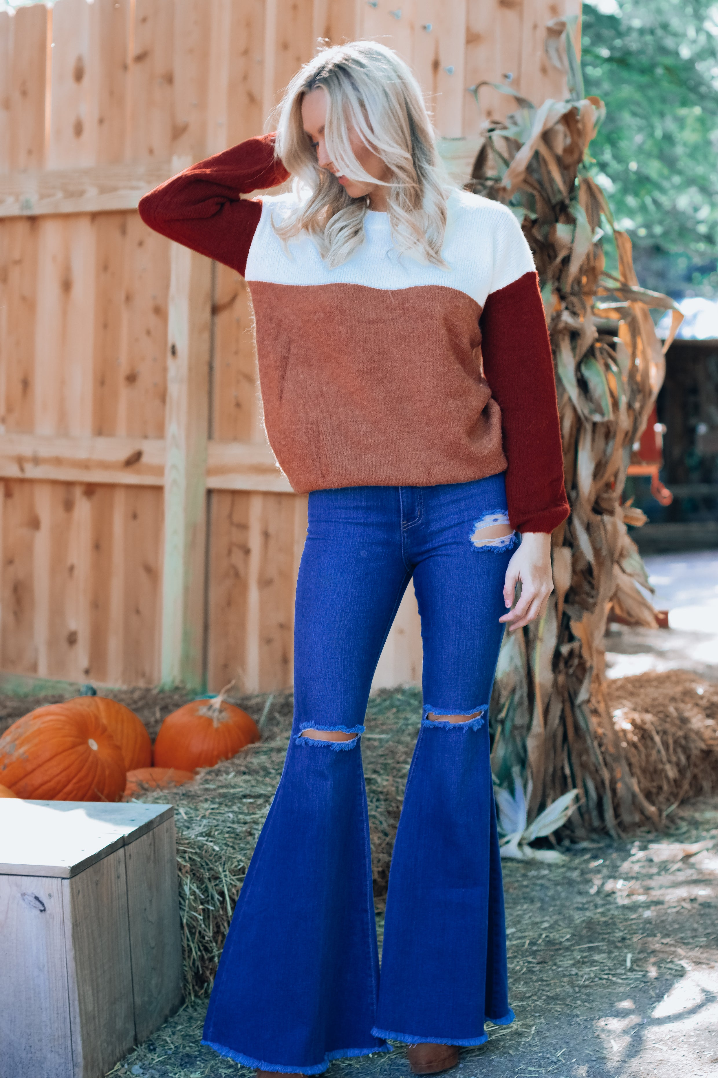 Perfect Distressed Bell Bottom