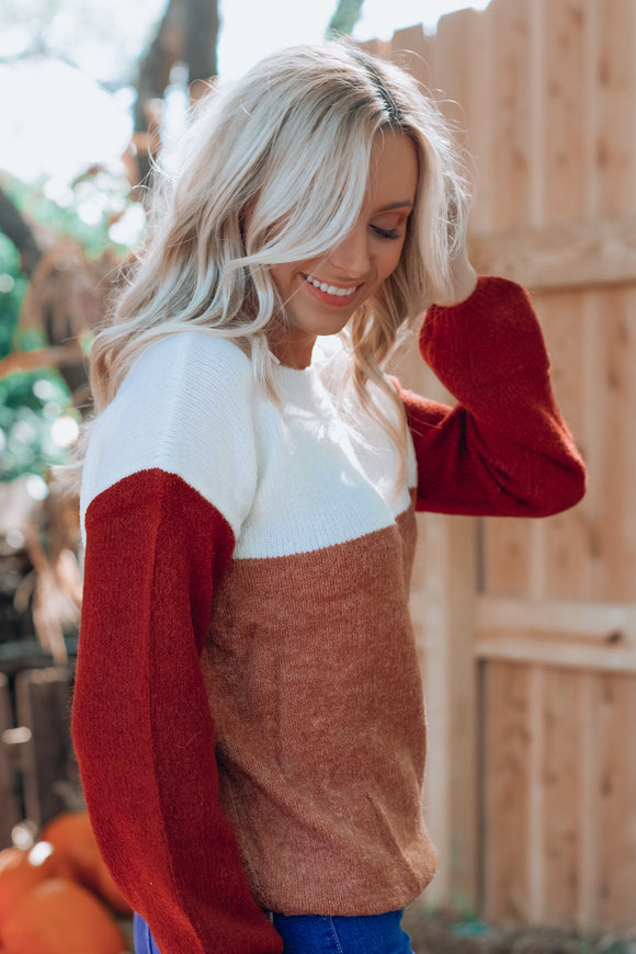 Wyoming Color Block Sweater
