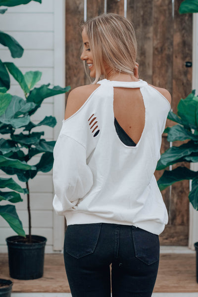 Wesley Cut Out Sweatshirt