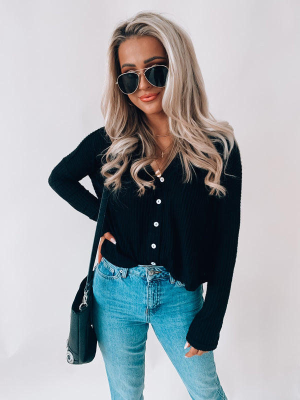 Cropped Camdyn Button Up Thermal