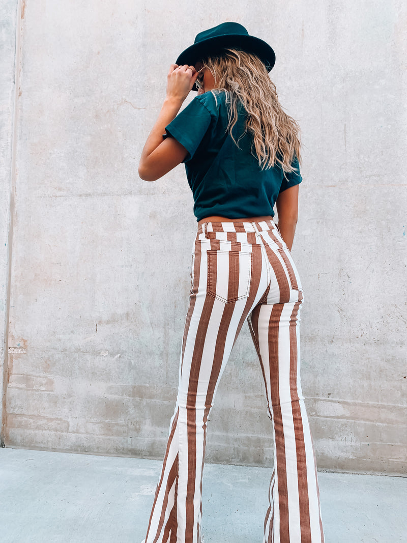 Tommy Striped Bell Bottoms