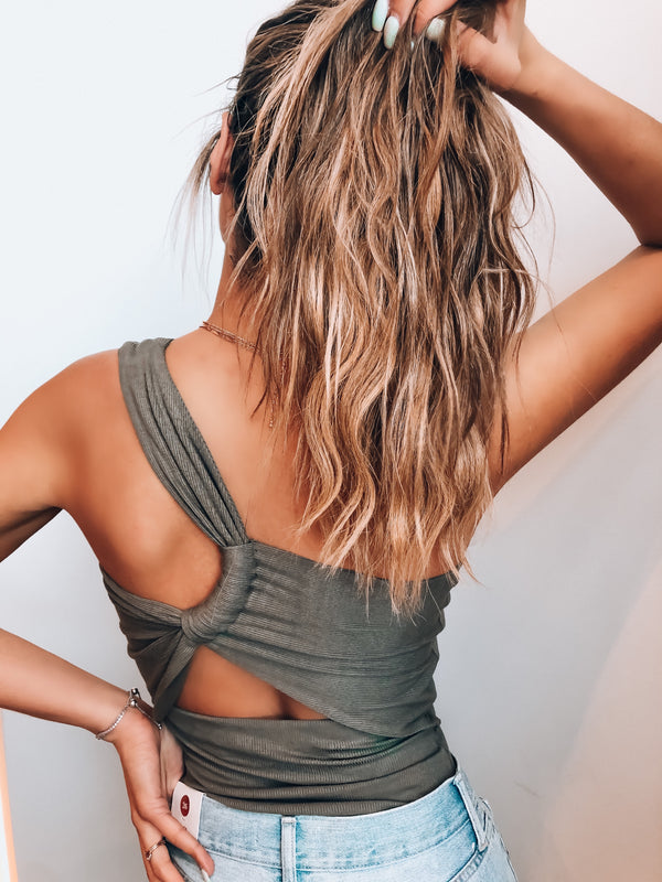 Izzy One Shoulder Tank Top
