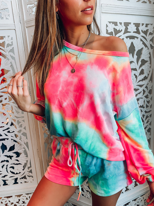 RESTOCKED: Cool Vibes Neon Tie Dye Top