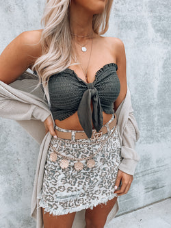 Olive Knot It Tube Top