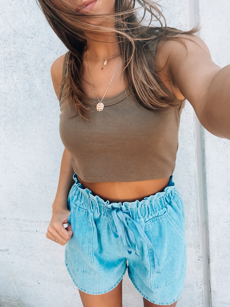 Lighten Up Denim Shorts