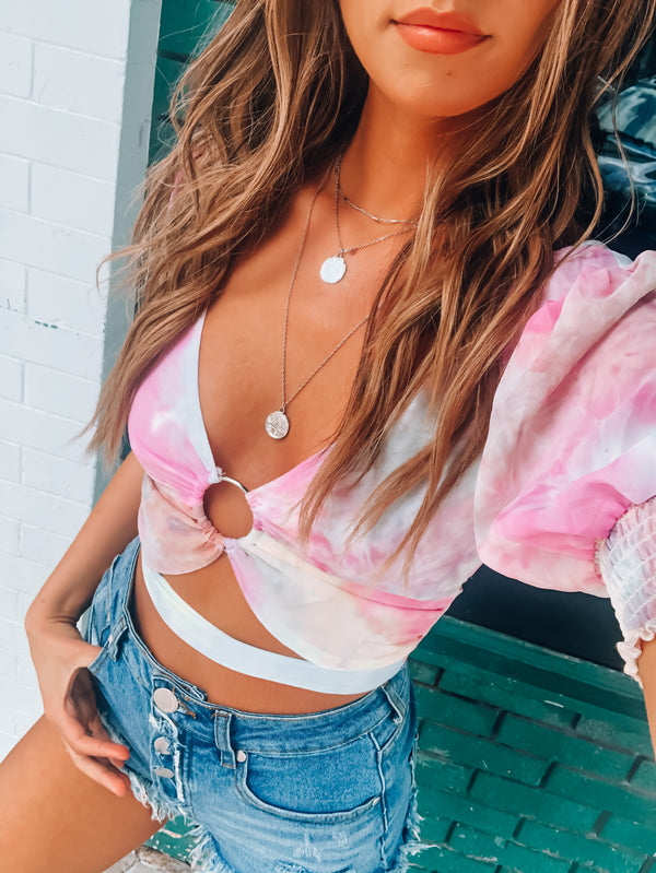 Tayla Watercolor Tie Top