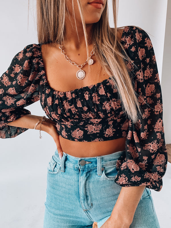 RESTOCKED: Leah Floral Top
