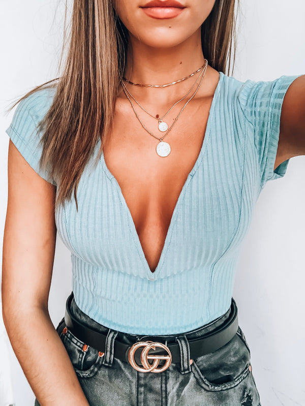 Sky Holly V-neck Bodysuit
