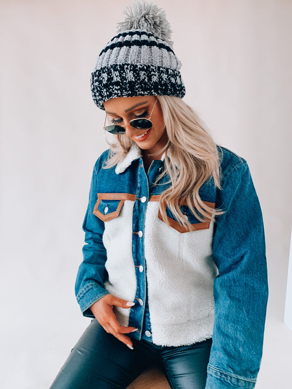 Marley Sherpa Denim Jacket