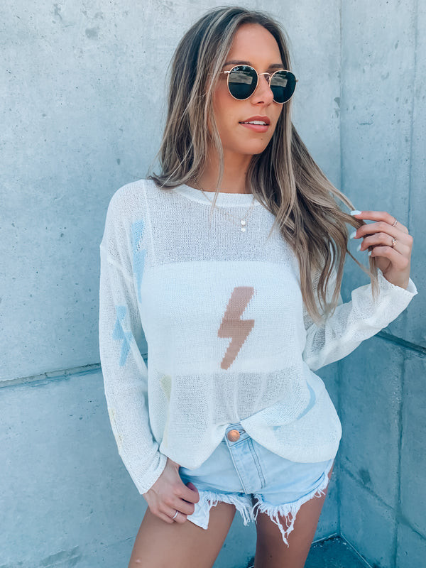 Lightning Strikes Knit Top