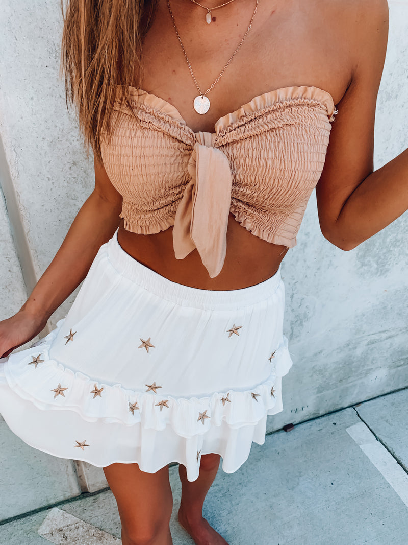 Nude Knot It Up Tube Top