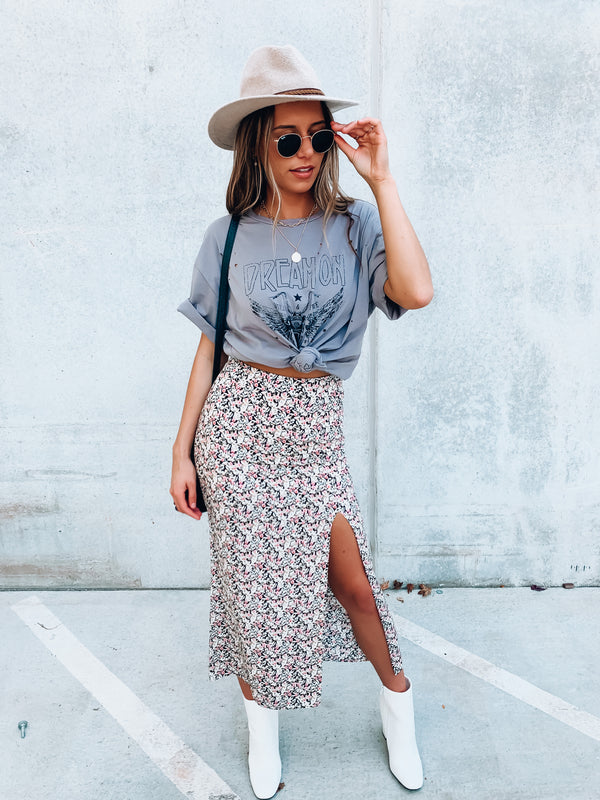 Savanna Floral Midi Skirt