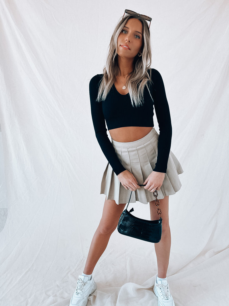 Chloe Ribbed Crop Sweater
