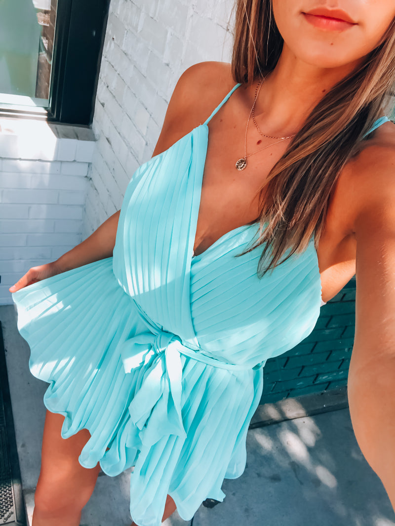 Jaedyn Pleated Romper